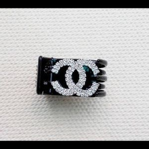Beautiful Black Crystal Hair Clip